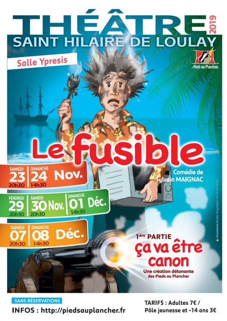 Affiche théâtre des Pieds au Plancher 2019